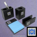 Police Officer Wood Desk Accessories Set