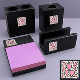 Leopard Print Desk Accessories Set