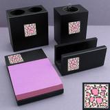 Leopard Print Desk Accessories Set
