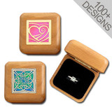 Wooden Engagement Ring Boxes in 100s of Personalized Designs