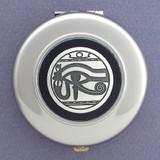 Egyptian Eye Compact Mirror - Round
