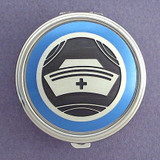 Nurse Cap Pill Case - Round