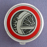 Motorcycle Pill Case - Round