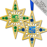 Polished Gold Beaded Ornaments - Customize with Design
