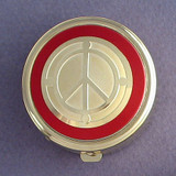 Peace Sign Pill Case - Round