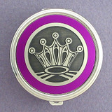 Crown Pill Case - Round