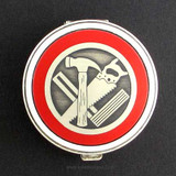 Construction Tools Pill Case - Round