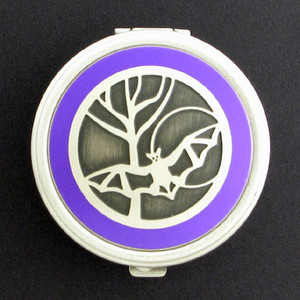 Flying Bat Pill Case - Round
