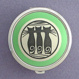 Cats Pill Case - Round