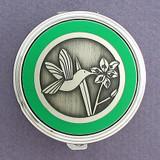 Hummingbird Pill Case - Round