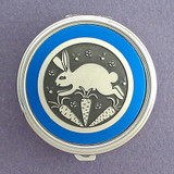 Rabbit Pill Case - Round