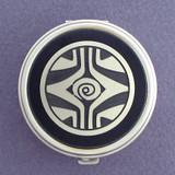 Retro Art Deco Pill Case - Round