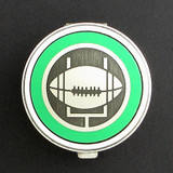 Football Pill Case - Round
