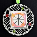 Apricot Orange & Lime Green Ornament