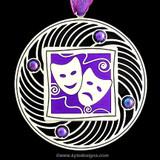 Purple Mardi Gras Ornament