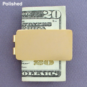Blank Money Clips in Bulk - Polished Gold