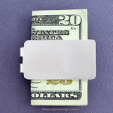 Blank Money Clips in Bulk - Satin Silver