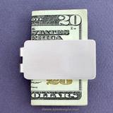 Blank Money Clips in Bulk - Satin Silver