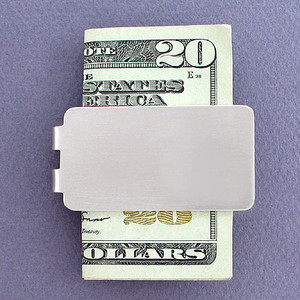 Satin Silver Money Clips