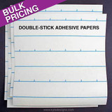 Double-Stick Adhesive Tape Paper Sheets - Black