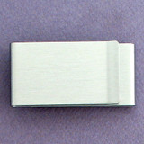Double-Sided Money Clip - Brushed Silver