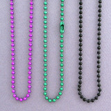 Colored Aluminum Ball Chain Badge Lanyards