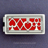 Poker Money Clip - Red