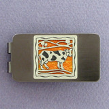 Cow Money Clip - Gunmetal