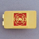 Fireman Money Clip - Gold