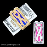 Awareness Ribbon Money Clips