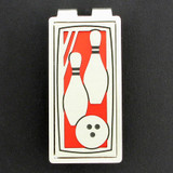 Bowling Money Clip - Red & Silver