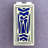 Dentist Tooth Money Clips - Silver & Blue