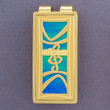 Music Money Clip - Gold