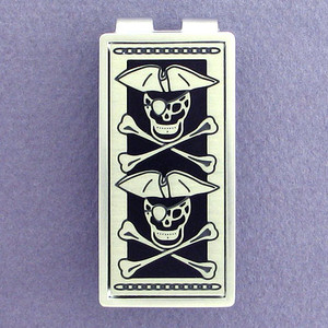 Pirate Skulls Money Clip