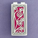 Silver & Berry Decorative Vine Swirl Money Clip