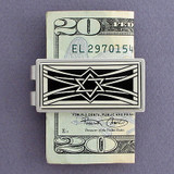 Jewish Money Clip - Silver, Black