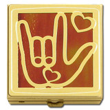 I Love You Sign Language Pill Box