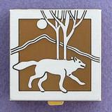 Silver Wolf Pill Box