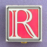 Monogram R Pill Box