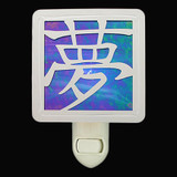 Stained Glass Dream Character Night Light in Cobalt Blue