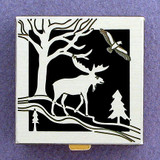 Moose Pill Box - Black, Silver