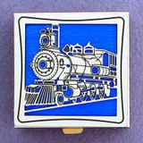 Train Pill Box - Silver, Square