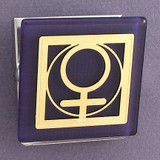 Female Gender Symbol Magnet Clip