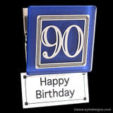 90th Birthday Magnetic Clip