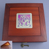 Flames Jewelry or Cigar Box