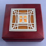 Christian Jewelery Box with Cross