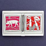 Pigs & Lipstick Business Card Holder