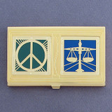 Peace & Justice Business Card Case