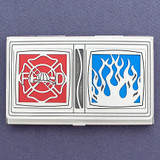 Fire Chief Business Card Case
