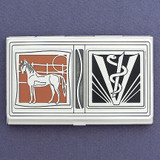 Large Animal Veterinarians Business Card Case